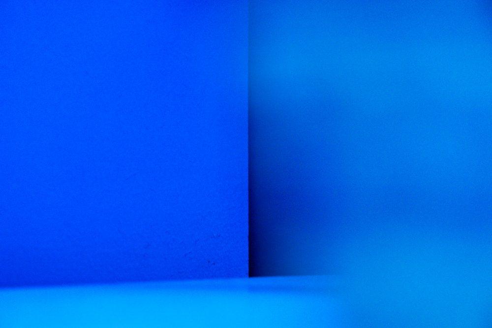 Farbe blau abstrakt